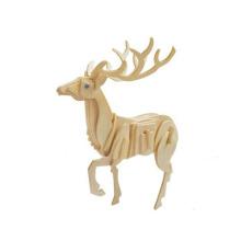 puzzle en bois animal de cerf pas cher 3D