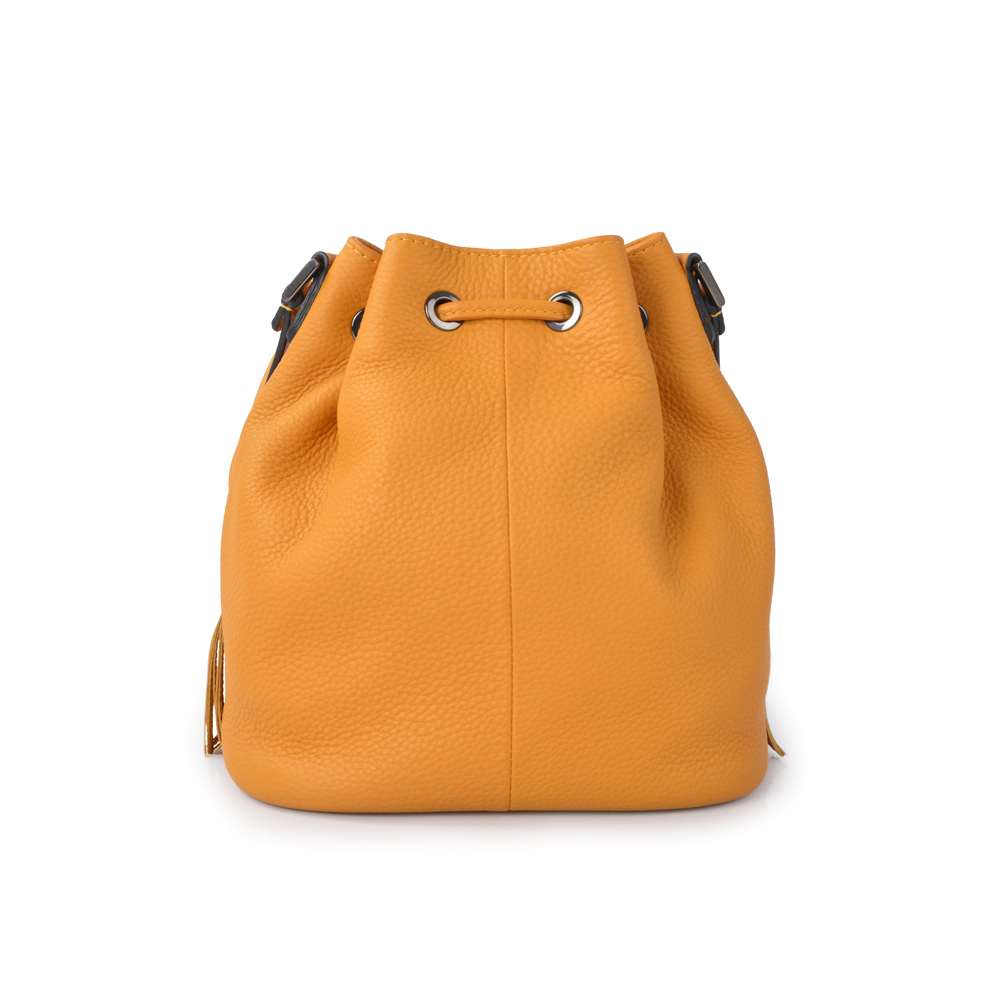 Women's Crossbody Leather Bucket Bags