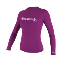 UV Sun Protection Women′s Basic Skins Long-Sleeve Rashguard Top