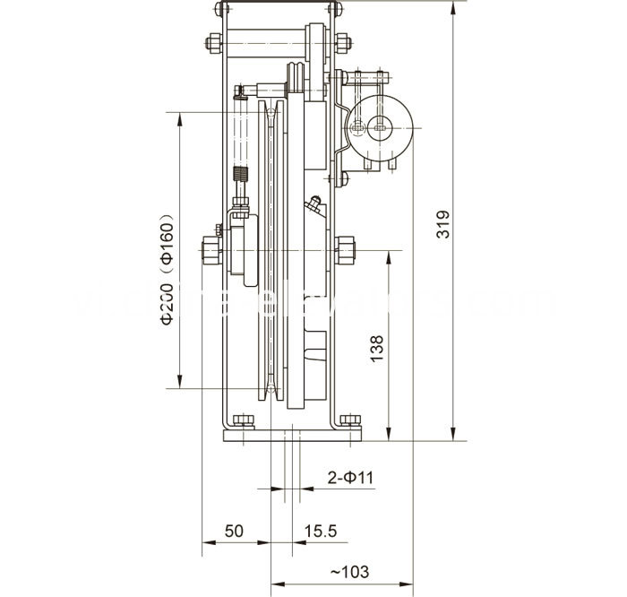 Drawing 2 of Speed Governor for MRL Elevators ≤1m/s