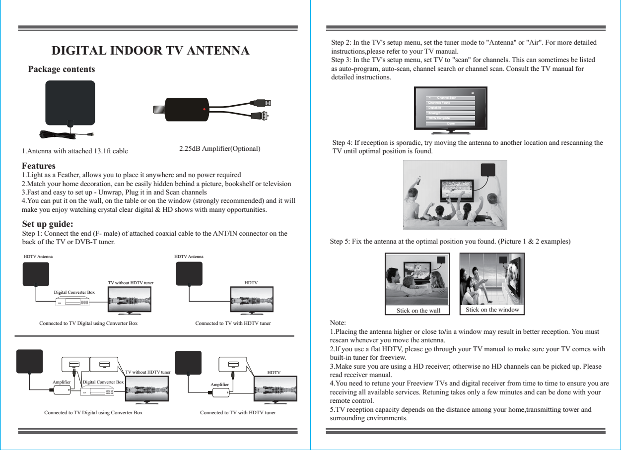 tv antenna specification