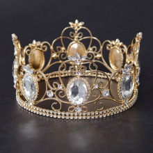 Gold Beauty Queen Full Round Crown