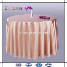 100% poliéster Lavable mesa de lino Venta al por mayor lentejuelas redonda mesa de mesa de tela