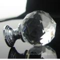 bola de cristal de faceta de alta qualidade lidar com botões de empurrar puxar para o armário, armário, gaveta e armário