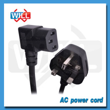 BS UK standard 90 degree power cord plug with fuse