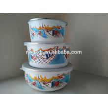 204D-5 enamel finger bowl & enamel mixing bowl & enamel salad bowl