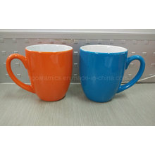 Zwei Ton-Keramik-Becher, Kaffeetasse, Werbe-Becher