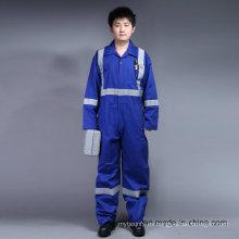 Prenda de trabajo 100% de la seguridad ignífuga de Proban del algodón con la cinta reflexiva