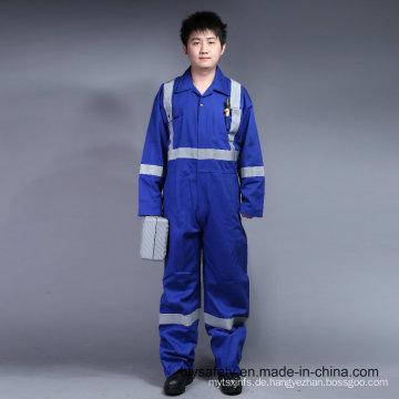 100% Baumwolle Proban Flammschutzmittel Arbeitskleidung mit Reflexstreifen