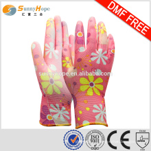 SUNNYHOPE popular Pu coated garden gloves