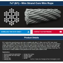 7X7 (6/1) - Cuerda de alambre de la base del alambre