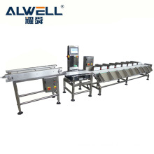 Conveyor belt fish automatic weight sorting machine