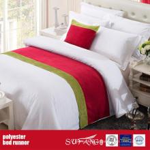 Coureur de lit de tissu de décoration de poly pour le motel