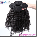 Nouvelle Arrivée Nouveau Type Eurasien Kinky Bouclés Cheveux Tissage Avec Dentelle Fermeture Noeuds Blanchis Style Libre