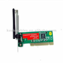 New 54M 11g WiFi Wireless LAN PCI Wireless Network Card +Antenna