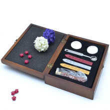 Wood box sealing wax set