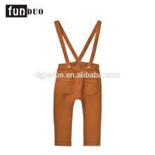 Child yellow suspender pants loose kids dress Child yellow suspender pants loose kids dress suspender pants