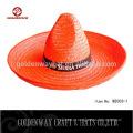 Chapéu promocional de sombrero de palha mexicano