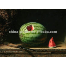 Pinturas a óleo contemporânea da melancia