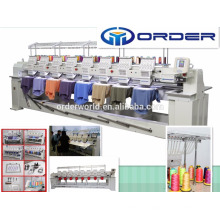 High Speed Industrial big area 8 head computerized embroidery machine price