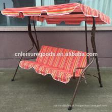Clássico barato varanda cadeira de balanço de aço