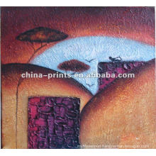Abstract Wall Decor Canvas Painting By Oil Handpainted