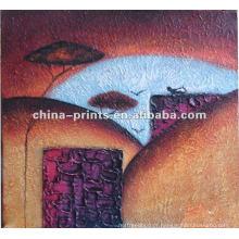 Pintura abstrata da lona da decoração da parede pelo óleo Handpainted