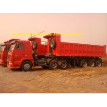Hydraulic Tipper Semi Trailer Truck 80 Ton