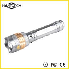 Durable Rotating Focus Wiederaufladbare Abenteuer LED-Taschenlampe (NK-676)