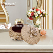 Polyresin crafts reliable quality for beauty inner decoration home jewellery box pearl box