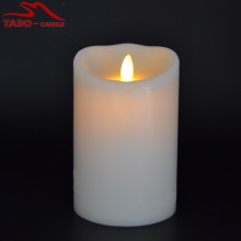 Battery Moving Flame LED Pillar Candles with Timer
