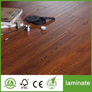 Handscraped HDF AC4 wooden Laminate Flooring 8mm