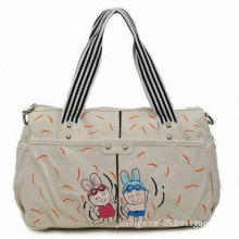 Girls Cotton Fabric Handbag, Available in Various Styles/Colors, Eco-Friendly and Reusable