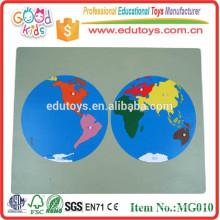 Educação Brinquedos de madeira Combinação de brinquedos World Puzzle Maps