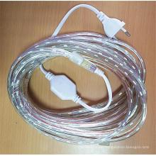 220V 5050 Epistar chip 1 2 3 4 5 6 7 8 9 10 15 20 25 Meter 60leds/m Waterproof 7 Colors led strip light with power plug