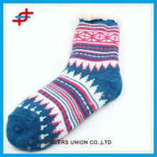 Новые женские зимние носки для дома с противоскользящим эффектом, красочные и теплые для зимней оптовой продажи 2016