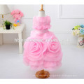 New fashion baby girl 3D flower girl dress 2017 hot sell colorful new model girl dress for wedding and party