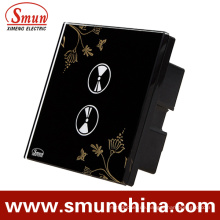 2Key Touch Wandschalter, schwarz ABS Fernbedienung Smart Switch