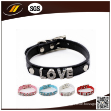 Wholesale Colorful PU Plain Leather Pet Collar (HJ7005)