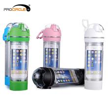 Tragbare transparente isolierte Sportwasserflasche