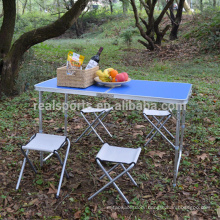 Folding Table Furniture Adjustable Folding Table Set Outdoor Picnic Table