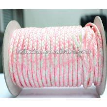 Cuerda trenzada PP, cuerda trenzada blanca y rosada