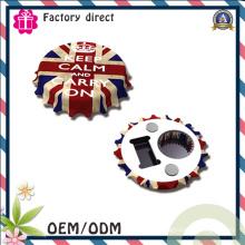 Impression personnalisée de haute qualité Imprimante magnétique Fonction Ouvre-bouteille en étain