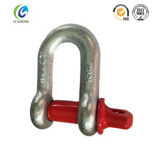 Color painted clevis d ring shackle