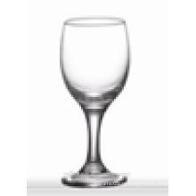 Cálices de água de vidro promocionais por atacado / vidro de água de haste curto claro para casa / bar / casamento