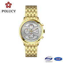 2016 Latest 316L Stainless Steel Watch Waterproof Chronograph 5ATM