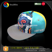 2015 custom fashion snapback cap 5 pnael flat cap and hat