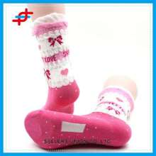 Lace Pattern Colorful Tube Knitted Socks For Young Girls