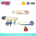 Fancy Gold Plated Lovely Enamel Brooch Pins with Charms #51243