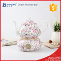 Una taza de té conjunto de pote con un precio muy barato hermosa flor de diseño etiqueta